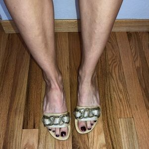 Kate Spade Chainlink Mules Flats